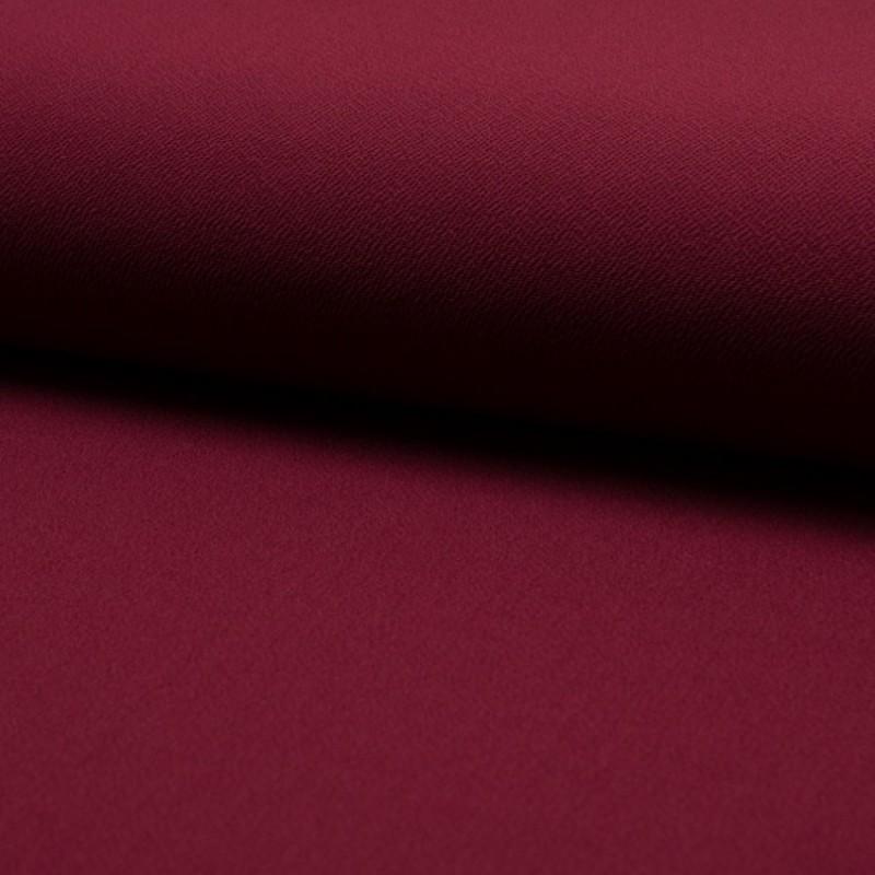 Tissu Jersey Crepe Uni Bordeaux