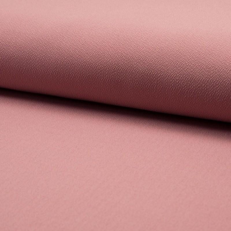 Tissu Jersey Crepe Uni Vieux Rose