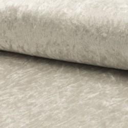 Tissu Panne de Velours Uni Silver grey