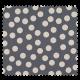 Tissu Gros Pois Gris Blanc