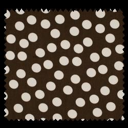 Tissu Gros Pois Chocolat Blanc