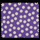 Tissu Gros Pois Lilas Blanc