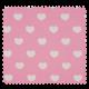 Tissu Coeur Rose Blanc