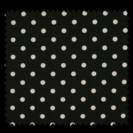 Tissu Pois Noir Blanc