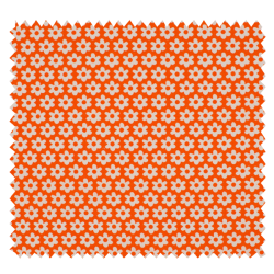 Tissu Paquerette Orange