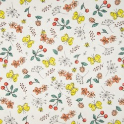 Tissu Jersey Imprime Fruit fleur