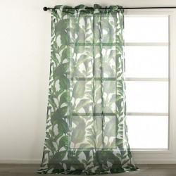 Rideau à Oeillets Imprime Deep Jungle Vert