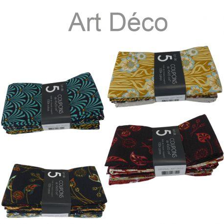 Un Lot de 5 Coupons Original Art Deco Multico