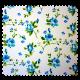 Tissu Rosebud Fleur Bleu