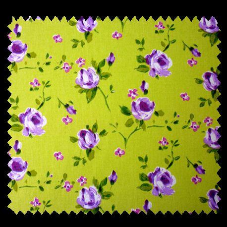 Tissu Rosebud Fleur Lavande