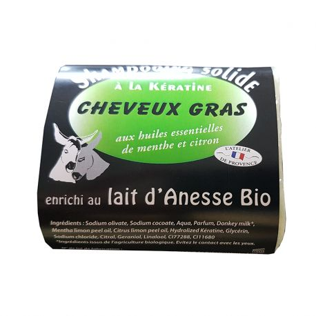 Shampooing Solide Cheveux Gras 100grs