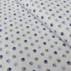 Tissu Patoune Imprimé Bleu