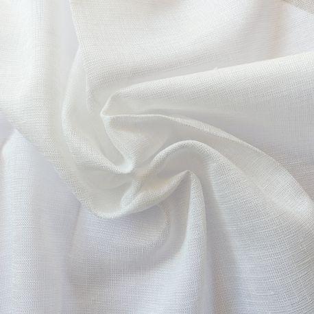 Tissu Voilage Etamine Scintillant Julie Blanc