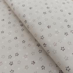 Tissu Devon Imprimé Etoiles Marron