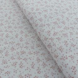 Tissu Devon Imprimé Fleurs Rose