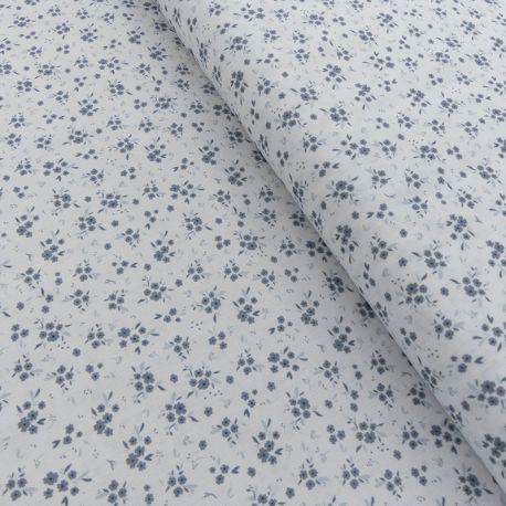 Tissu Devon Imprimé Fleurs Bleu