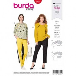 Patron Burda 6151 Sweat à Manche 34/44