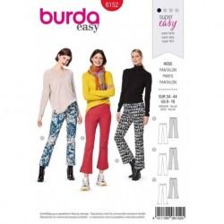 Patron Burda 6152 Pantalon à Patte d' éléphant 34/44