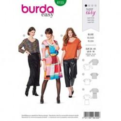 Patron Burda 6155 Blouse/robe de 34 à 44