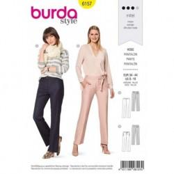Patron Burda 6157 Pantalon Ceinture 34/44