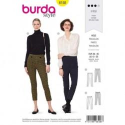 Patron Burda 6158 Pantalon Ceinture 36/46
