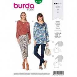 Patron Burda 6159 Tunique de 34 à 44