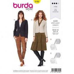 Patron Burda 6160 Veste/blazer 34/44