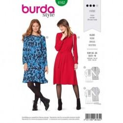 Patron Burda 6162 Robe de 34 à 44
