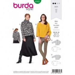 Patron Burda 6163 Robe de 34 à 44