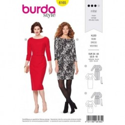 Patron Burda 6165 Robe/coupe Fourreau 34/44