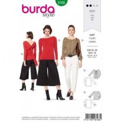 Patron Burda 6166 T-shirt de 34 à 44