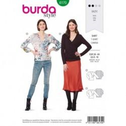 Patron Burda 6170 Tee-shirt Cache-coeur de 34 à 44
