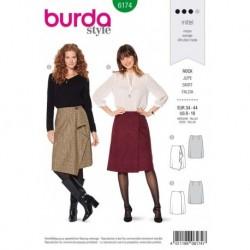 Patron Burda 6174 Jupe Portefeuille de 34 à 44