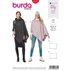 Patron Burda 6175 Cape Rectangulaire 34/44