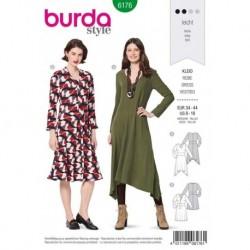 Patron Burda 6176 Robe Avec Perement de 34 A 44