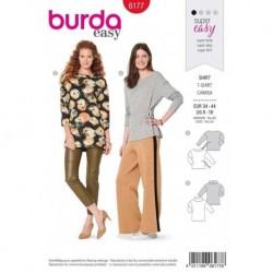Patron Burda 6177 Tee-shirt Epaule 34/44