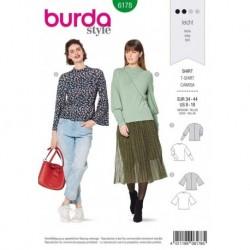 Patron Burda 6178 Tee-shirt de 34 à 44