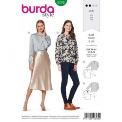Patron Burda 6179 Bouse de 34 à 44