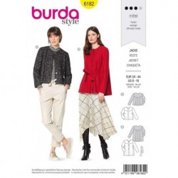 Patron Burda 6182 Veste Empiecement 34/44