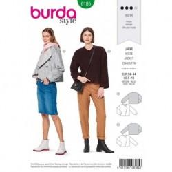 Patron Burda 6185 Veste Courte de 34 à 44