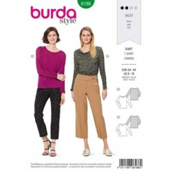 Patron Burda 6186 Tee-shirt de 34 à 44