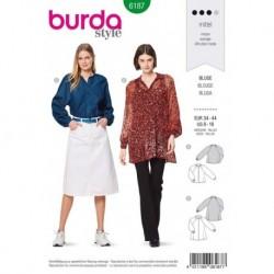 Patron Burda 6187 Blouse de 34 à 44