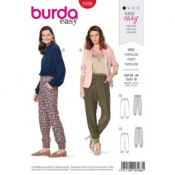 Patron Burda 6188 Pantalon Ceinture 34/44