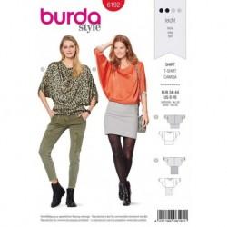 Patron Burda 6192 Tee-shirt Large Ceinture 34/44