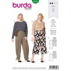 Patron Burda 6193 Pantalon Ceinture de 44 à 54