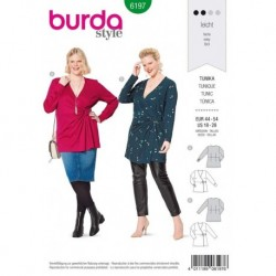 Patron Burda 6197 Tunique/tee-shirt 44/54