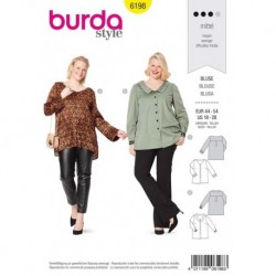 Patron Burda 6198 Blouse Empiecement 44/54