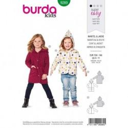 Patron Burda 9289 Kids Manteau/veste 104/146