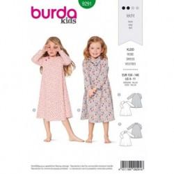Patron Burda 9291 Kids Robe 104/146