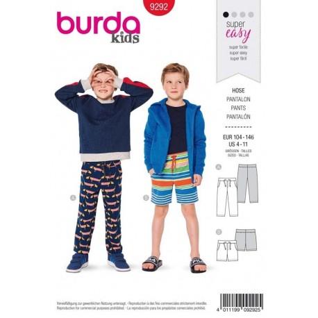 Patron Burda 9292 Kids Pantalon/short 104/146